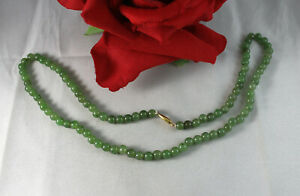 """Gorgeous Green Jaded Beaded   22""""  Necklace  CAT RESCUE"""
