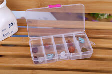 10 Grids Adjustable Jewelry Beads Pills Nail Art Tips Storage Box Case HOT5 HOT7