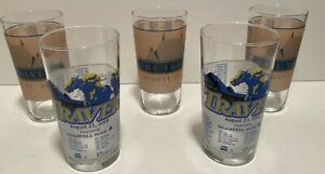 Lot of 5 Vintage 2008 and 2011 Travers Stakes Saratoga Souvenir Drink Glass