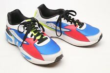 Fila Mindblower Mens Shoes 10.5 Blue Red Neon Yellow Sneakers Colorblock