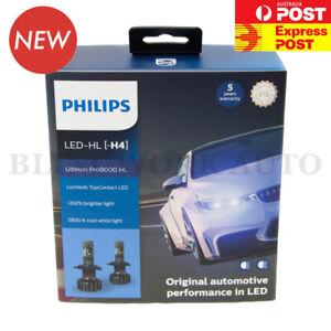 PHILIPS H4 Ultinon Pro9000 LED Car Headlight Bulbs Kit +250% 5800K White