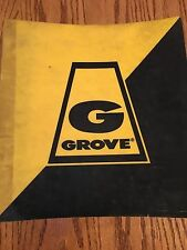 GROVE TMS760 Crane PARTS Illustrated Manual   8/1988