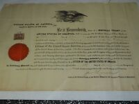 1898 United States Naturalization Certificate Patrick Sarsfield McBuyer