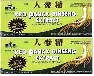 Red Panax Ginseng Extract 12 years old Roots 6000 Mg Premium 2 Box (60 Bottles)