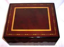 "Cigar Humidor Desktop Cedar Humidifier Hygrometer 10 1/4 "" X 8 1/2 "" X 4 5/8 """