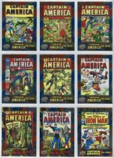 2016 UD Captain America 75th Anniversary complete foil set with SPs 75 cards