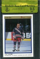 1990-91 opc premier #10 TIE DOMI new york rangers rookie card BGS 9.5 RCR