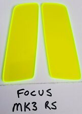 FORD FOCUS RS MK3 FLUORESCENT ACID GREEN ACRYLIC FOGLIGHT PROTECTORS
