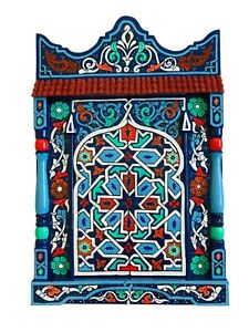 Paint furniture Paint morocco mirror Blue Dark rustic Mirror decor, Vintage