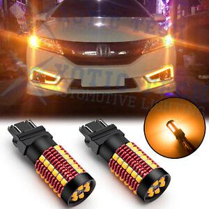 3156 3157 LED Turn Signal Light Blinker Bulbs Anti Hyper Flash w CANBUS 3000K