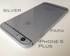 Funda Silver carcasa para iPhone 6 Plus 6s Plus aluminio+policarbonato