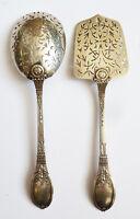Couverts à dessert mignardise ARGENT massif  Minerve vers 1900  silver 64 gr