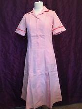 BNWT Angelica Nurses Carers Work Uniform Dress peach Salmon/Pink & White Size 10