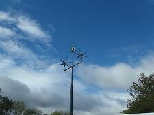 AVISPÓN Reino Unido 12v AC 6 Hojas Verde Turbina Generador de viento, imán de gran alcance 14 80amp