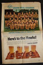 1971 Hawthorn Herald Grand Final souvenir Team Photo Hawks Premiers