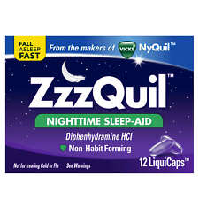 *UK* Vicks ZzzQuil 12 Liquicaps Sleeping Nighttime Nyquil Dayquil Sleep-aid