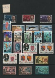 Lot TU3: Turks & Caicos Unmounted Mint Stamp Selection