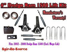 "2002 - 2008 Dodge Ram 1500 2WD 6"" Front 4"" Rear Spindle Coil Block Lift + SHOCKS"