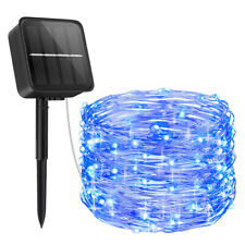 10M 100 LED Solar Copper Wire Fairy String Strip Light Wedding Xmas Party Decor