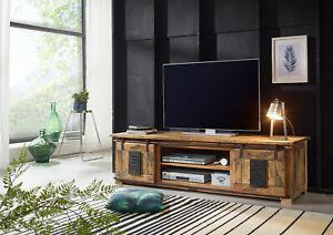 TV Board Arona Mangoholz rustikal Eisen Rolltür Vorrätig!!