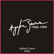 AYRTON Senna Tribute, vinile, Adesivo, grafica auto, Williams, formula 1 N2024