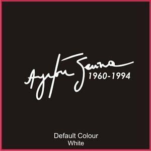 Ayrton Senna Tribute, Vinyl, Sticker, Graphics Car, Williams, Formula 1 N2024
