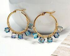 Jewelry Round Gold stud circle huggie Hoop Small Earrings Women Stainless Steel