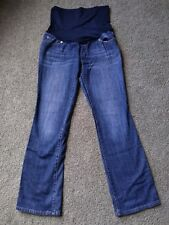 Liz Lange Womens Maternity Jeans Size 2 Dark Full Belly Panel Bootcut 029071170