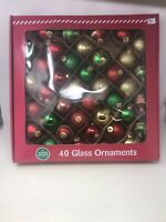Winter Wonder Lane 39 Glass Christmas Tree Ornaments Balls Nice Multi Colored
