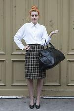 Vivance Collection Damen Rock skirt braun schwarz 80er True VINTAGE 80´s women