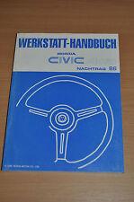 Werkstatthandbuch Funktion und Aufbau Nachtrag HONDA Civic 4WD (1986)