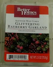 NEW Better Homes & Gardens Glittering Bayberry Garland Scented Wax Cubes