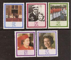 FIJI 1986 QUEEN ELIZABETH II 60th BIRTHDAY 5v MNH