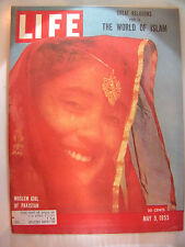LIFE MAGAZINE MAY 9, 1955 MOSLEM GIRL OF PAKISTAN