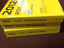 2012 Chevrolet Chevy ORLANDO Service Shop Repair Manual Set GM BOOK OEM NEW