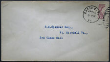 Cover - True 3 Cent Bisect to 1 1/2 Ct 3rd Class Mail rate - Chase Va S27