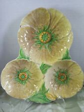 Vintage Carlton Ware Australian Design Yellow Buttercup 3-Section Dish
