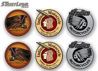 "6 - 3"" ASSORTED INDIAN MOTORCYCLE Vinyl Decals Accessories Stickers (Series 2)"