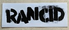 Rancid Sticker Large Collectible Rare Vintage 90'S Metal Decal Punk Rock