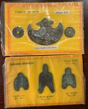 "2 Different ""Chinese Moneys"" Coin Sets, Minh Dynasty Khanh-Tien, Chou Dynasty"