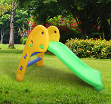 Kids Children Climbing Slide & Steps Set Play Toy Play Area Garden Outdoor Gift