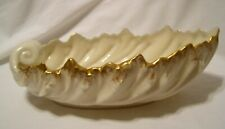 LENOX Sculptural Shell Acanthus Leaf Bowl Dish Blue Wreath Stamp USA Old Mark 9""