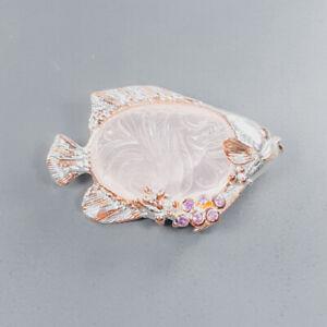 Sweet gem 70 ct carving  Rose Quartz Brooch Silver 925 Sterling  /NB11026