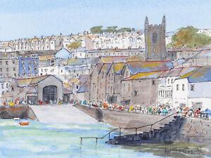 St. Ives, Cornwall,  Watercolour & Ink Original