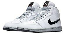 NIKE AIR JORDAN 1 MID MEN'S SHOE [SIZE 14] WHITE/BLACK-WOLF GREY 554724-115