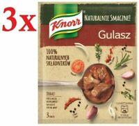 Knorr Gulasz Naturalny Natural Beef Stew Seasoning Mix 63g Bag (3-Pack)