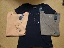 NWT Hollister Snap Henley T-Shirt 3 Colors L