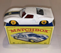 MATCHBOX LESNEY FORD GT RACER  No 41 Mint condition car and box