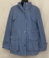 Pendleton Womens Lightweight Jacket Zip Snap Button Coat Sky Blue P70220 Size L