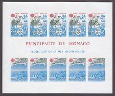 EUROPA CEPT Monaco Block 1986 postfrisch/** (MNH) UNGEZÄHNT/IMPERFORATED